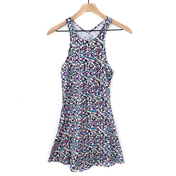 American Eagle Cutout Floral Skater Stretchy Dress